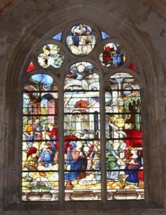 Vitrail de la nativité - Eglise d'Héricy